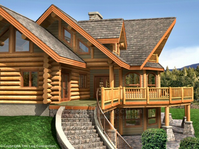 Pictures log home of the month for Bavarian home designs