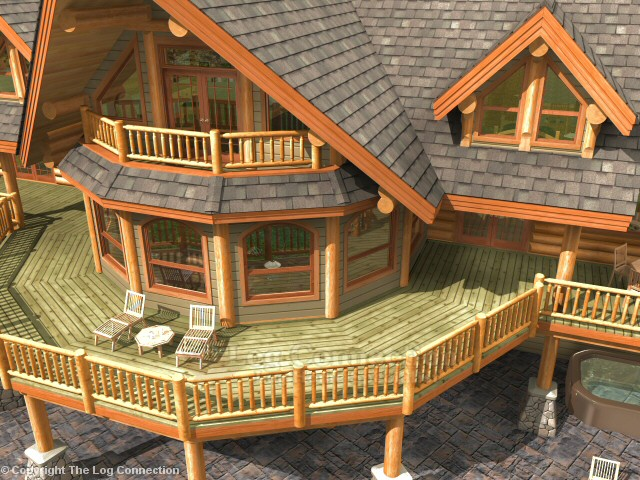 bavarian dream log home pictures