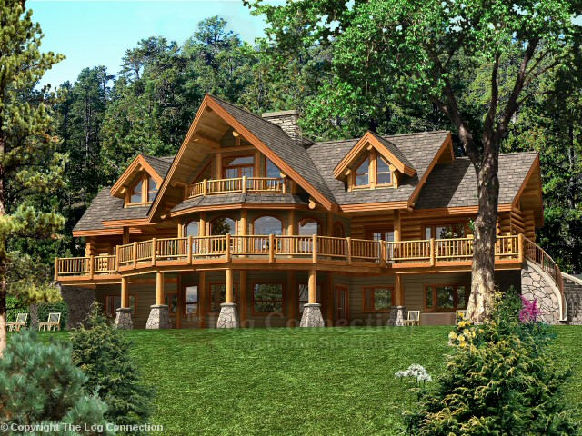 bavarian dream log home pictures On bavarian home plans