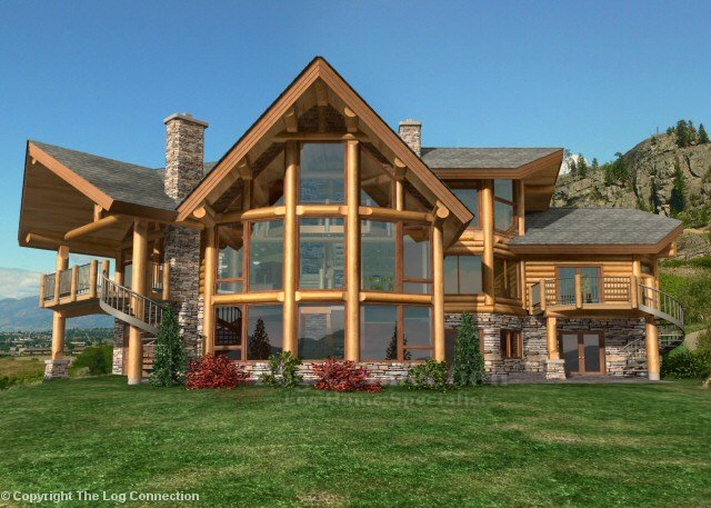 Monthly log home newsletter march 2010 for Prow front home plans