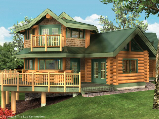 Pictures log home of the month for Eagle nest home designs