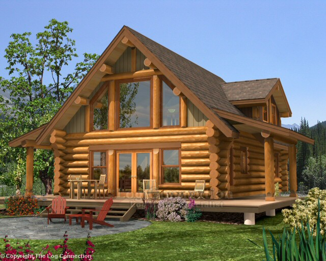 Newport log home pictures for Log cabin kit homes victoria