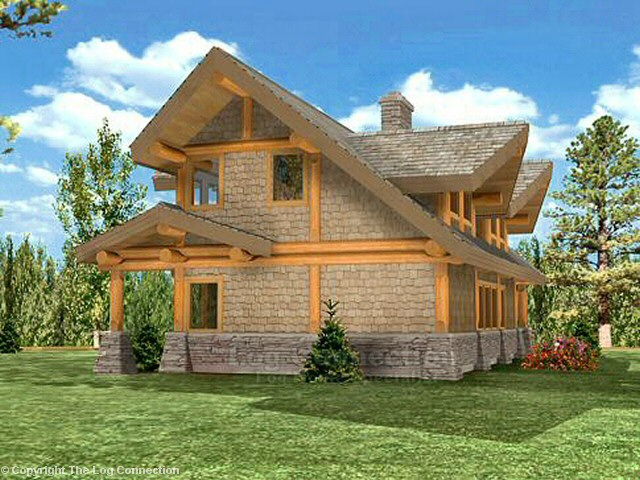 powderhorn log home pictures