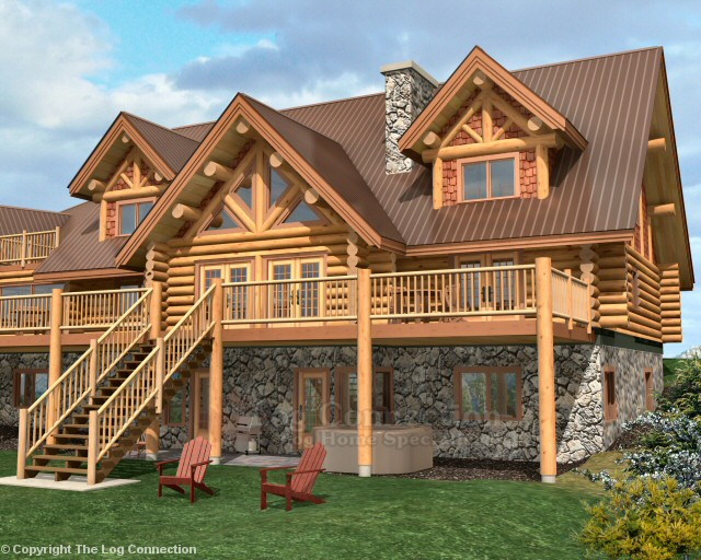 Texas ranch log home pictures for Log home plans texas