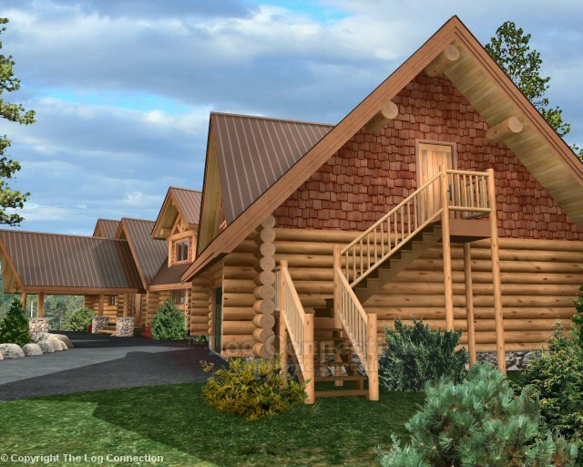 Texas Ranch Log Home Pictures