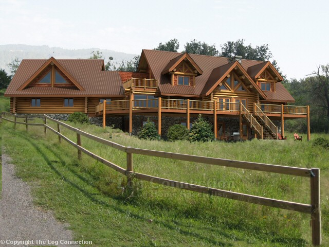 Texas ranch log home pictures for Log cabin plans texas