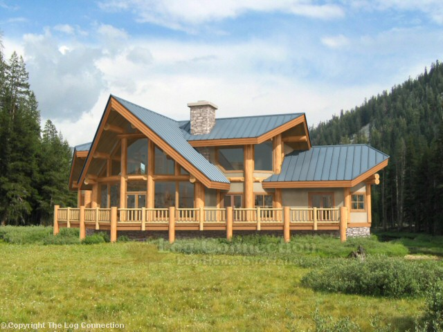 Westbury log home pictures for Houses with basements in texas
