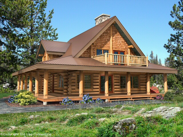Edgewood Log Home Design By The Log Connection