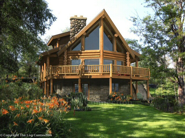 Fairmont Log Home Design By The Log Connection ...