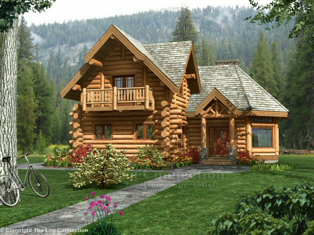 Guesthouse log home design by the log connection for Home plans with guest house