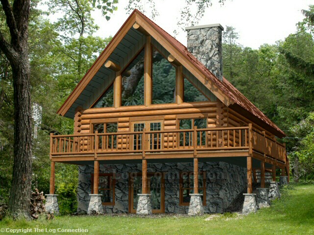 Minocqua Log Home Design by The Log Connection