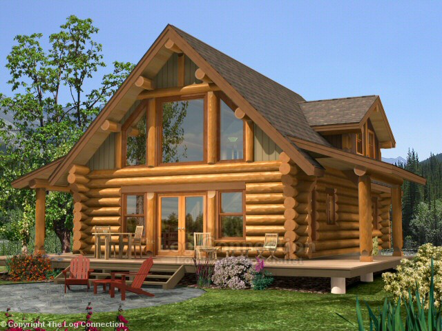 newport log home design by the log connection
