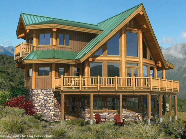 Saratoga log home design by the log connection for Log house plans