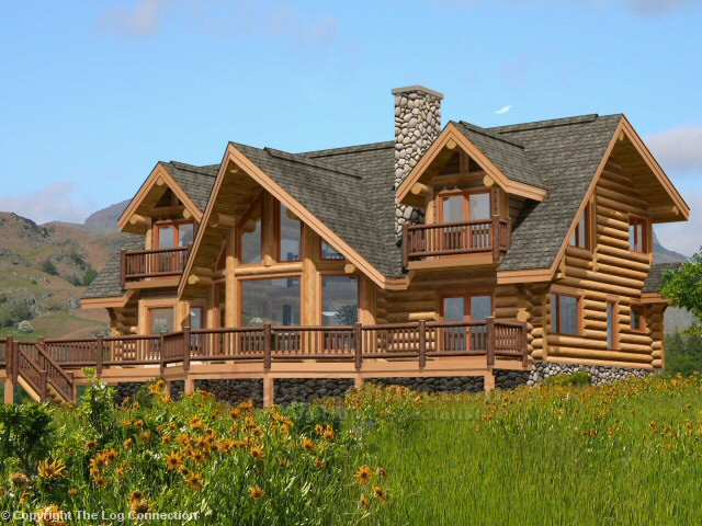 Skeena Log Home Design by The Log Connection