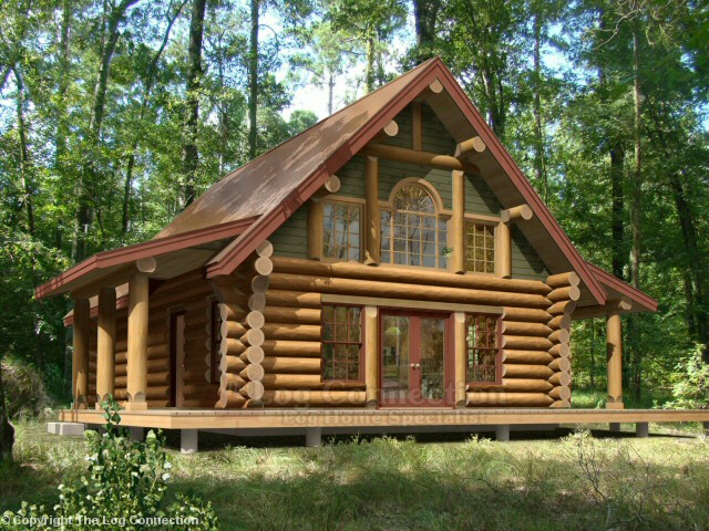 Victoria log home design by the log connection for Log a frame cabins