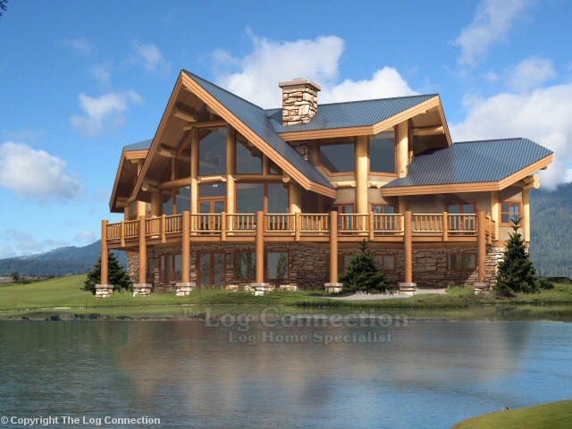 Westbury Log Home Design By The Log Connection